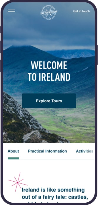 Tour Partner Group, Designed and Developed by Ester Digital